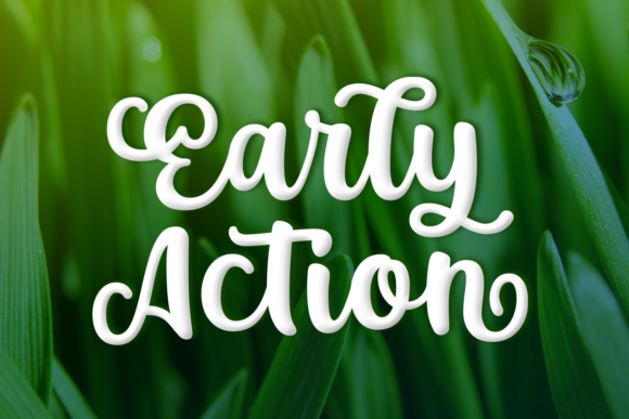 Print on Demand: Early Action Script & Handwritten Font By Situjuh - Image 1