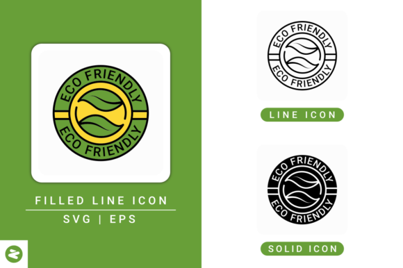 Print on Demand: Eco Icons Set Graphic Icons By zenorman03