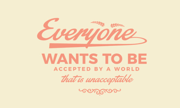 Download Free Everyone Wants To Be Accepted Graphic By Baraeiji Creative Fabrica for Cricut Explore, Silhouette and other cutting machines.