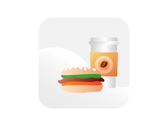 Download Free Fast Food Burger And Drink Icon Graphic By Samagata Creative for Cricut Explore, Silhouette and other cutting machines.