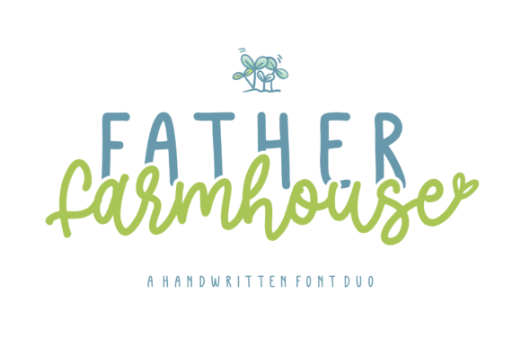 Print on Demand: Father Farmhouse Script & Handwritten Font By Azetype