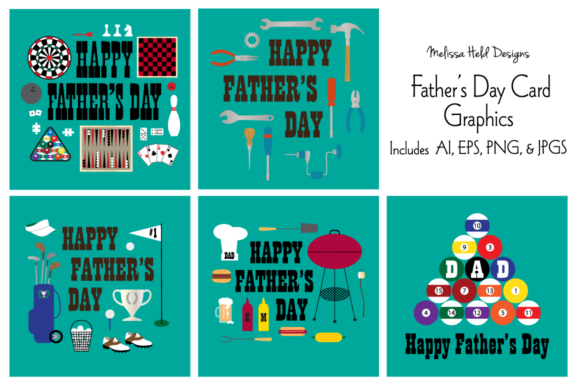 Father's Day Card Graphics Graphic Illustrations By Melissa Held Designs