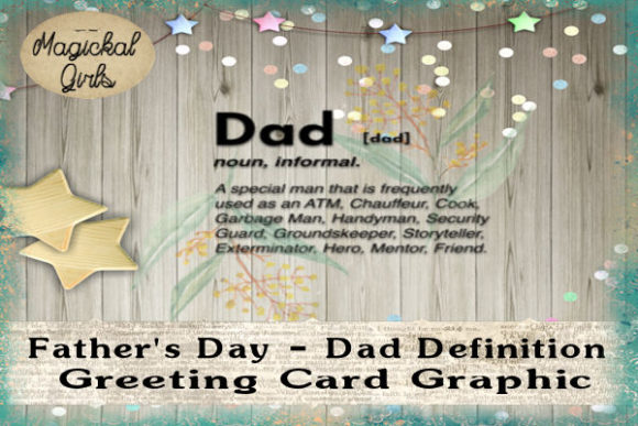 Father S Day Dad Definition Card Graphic By Magickal Girls