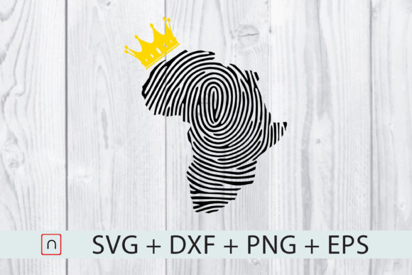 Fingerprint Crown Africa Map Graphic By Novalia Creative Fabrica