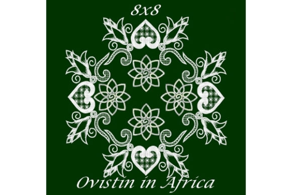 Flowers and Hearts Satin Applique Quilt Block Sewing & Crafts Embroidery Design By Ovistin in Africa