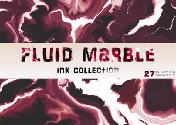 Fluid Modern Marble Flow Ink Collection Graphic Backgrounds By liquid amethyst art