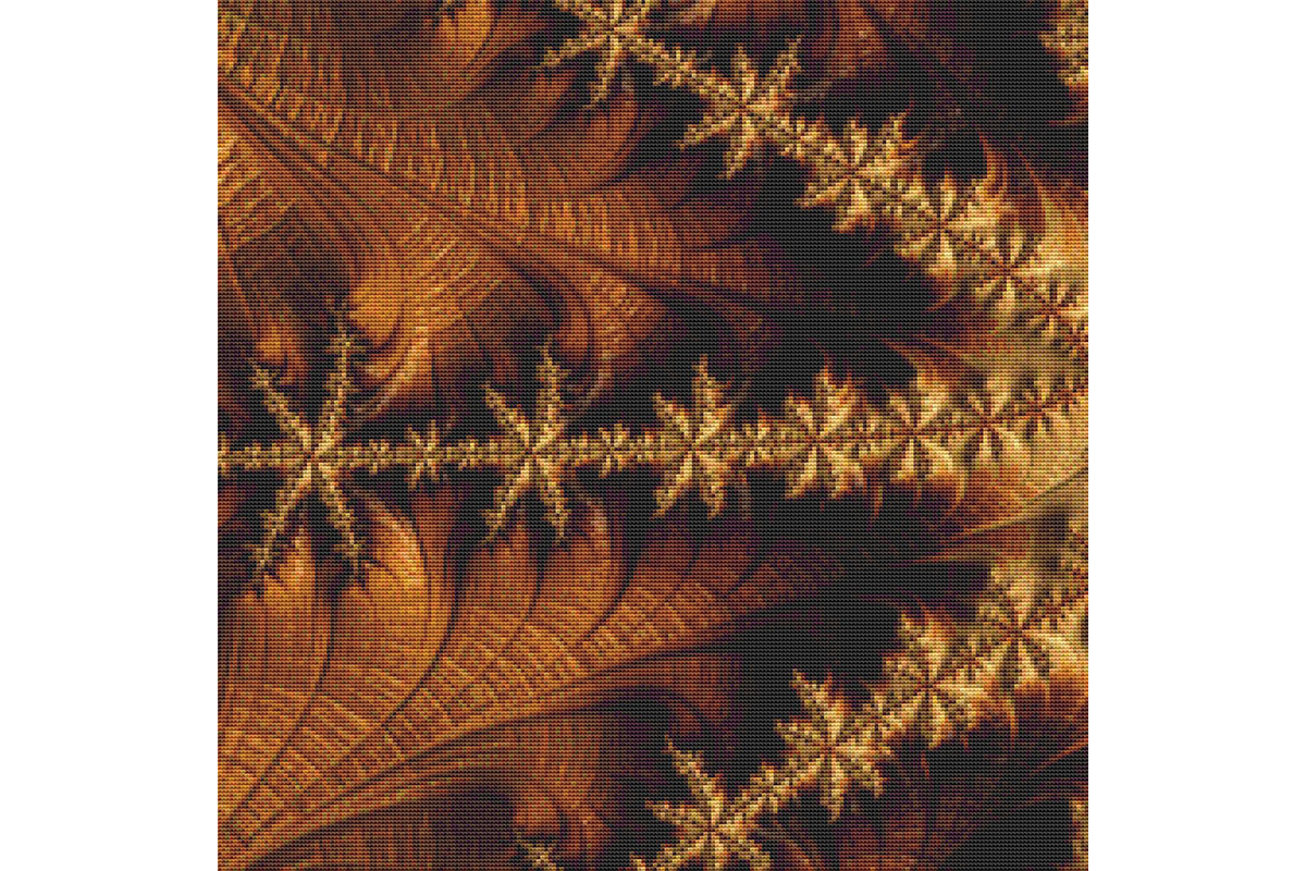 Download Free Fractal Cross Stitch Pattern Brown Graphic By Stitchx Designs for Cricut Explore, Silhouette and other cutting machines.