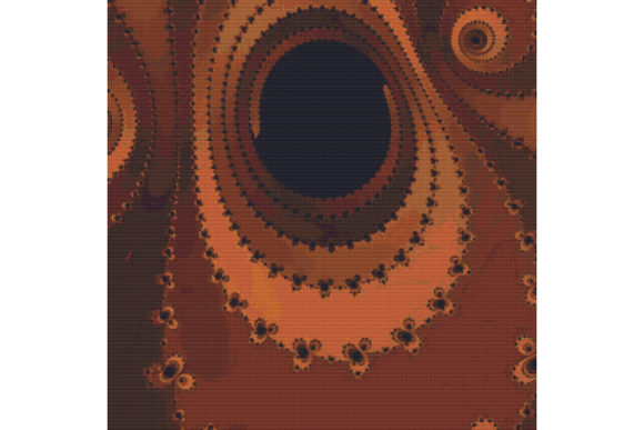 Fractal Cross Stitch Pattern Brown Graphic By Stitchx Designs