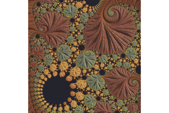Download Free Fractal Cross Stitch Pattern Green Graphic By Stitchx Designs for Cricut Explore, Silhouette and other cutting machines.