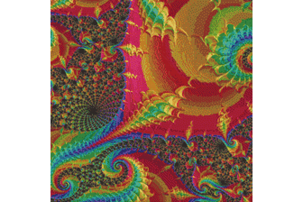 Download Free Fractal Cross Stitch Pattern Rainbow Graphic By Stitchx for Cricut Explore, Silhouette and other cutting machines.