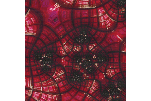 Download Free Fractal Cross Stitch Pattern Red Graphic By Stitchx Designs Creative Fabrica for Cricut Explore, Silhouette and other cutting machines.
