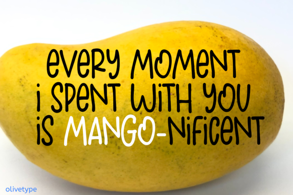 Download Free Fresh Mango Font By Olivetype Creative Fabrica for Cricut Explore, Silhouette and other cutting machines.