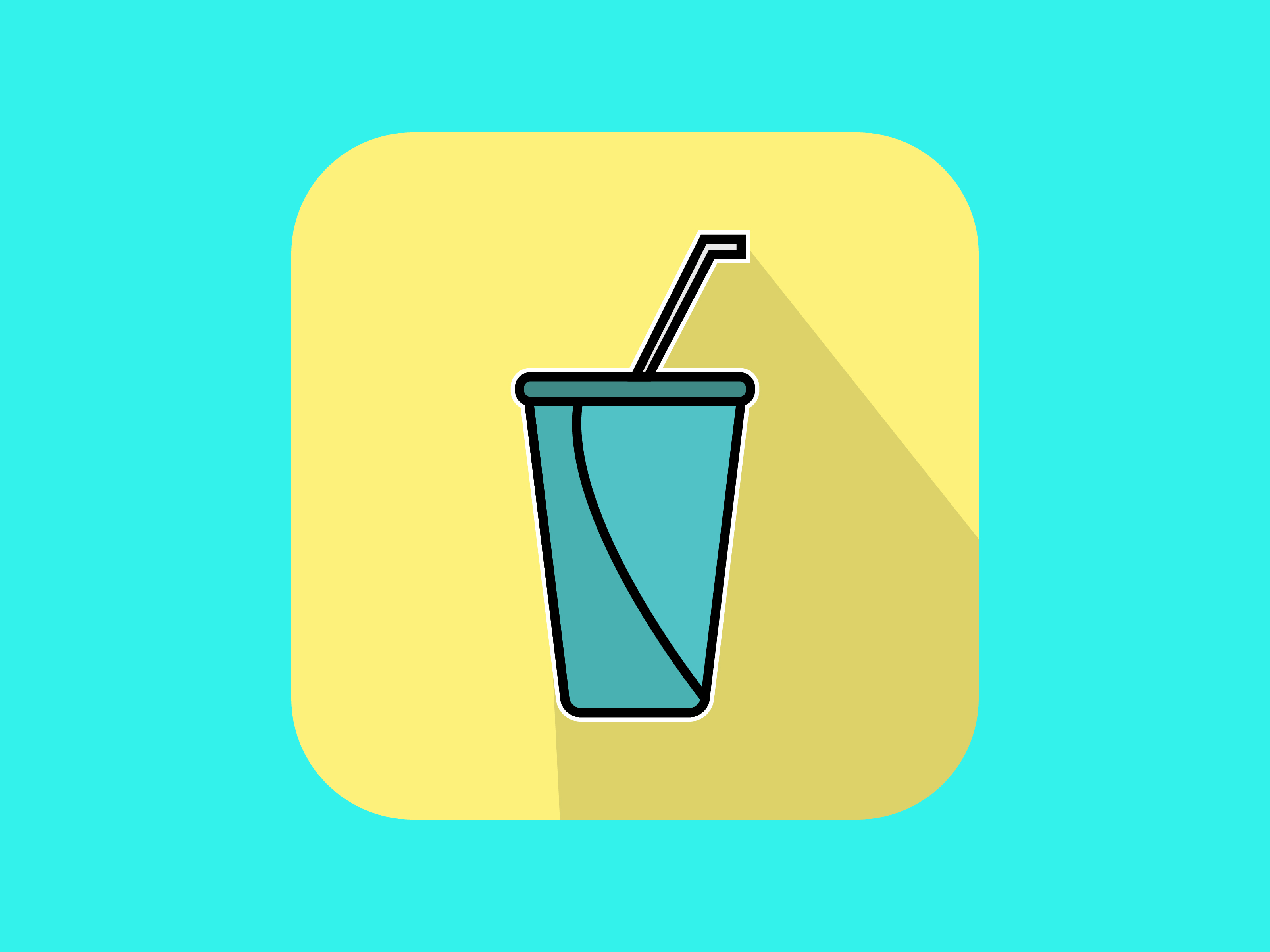 Download Free Fresh Soft Drink Icon Modern Outline Graphic By Meandmydate for Cricut Explore, Silhouette and other cutting machines.