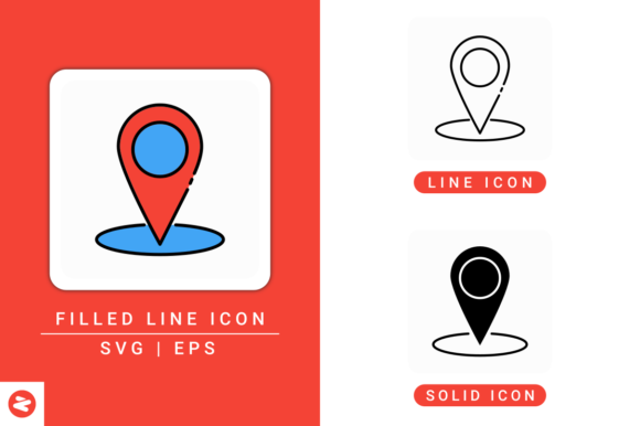 Download Free Gps Marker Icons Set Graphic By Zenorman03 Creative Fabrica for Cricut Explore, Silhouette and other cutting machines.