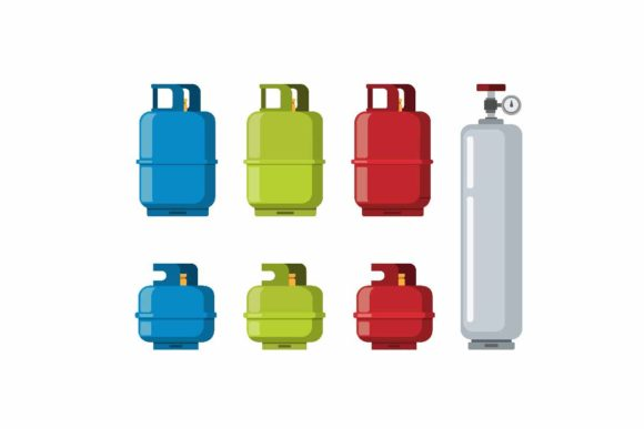 Download Free Gas Tank Cylinder Vector Icon Set Graphic By Aryo Hadi for Cricut Explore, Silhouette and other cutting machines.