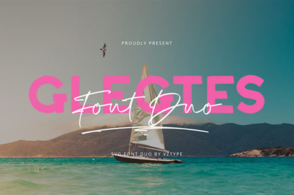 Print on Demand: Glegtes Duo Color Fonts Font By Vz_Type - Image 1