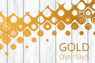Print on Demand: Gold Grunge Overlay Page Design Elements Graphic Backgrounds By Prawny