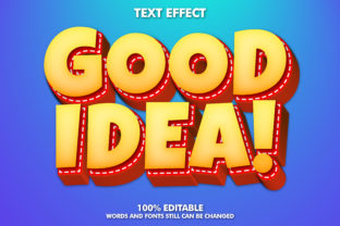 Good Idea Text Effect Graphic Layer Styles By memetxsaputra