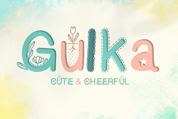 Print on Demand: Gulka Decorative Font By DIGI Potwor
