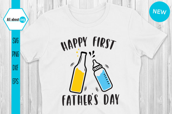 Download Free Happy First Father S Day Graphic By All About Svg Creative Fabrica for Cricut Explore, Silhouette and other cutting machines.