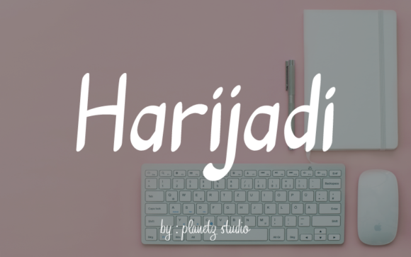 Download Free Harijadi Font By Planetz Studio Creative Fabrica for Cricut Explore, Silhouette and other cutting machines.