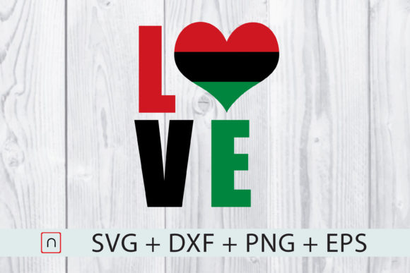 Download Free Heart Love Africa Flag Graphic By Novalia Creative Fabrica for Cricut Explore, Silhouette and other cutting machines.