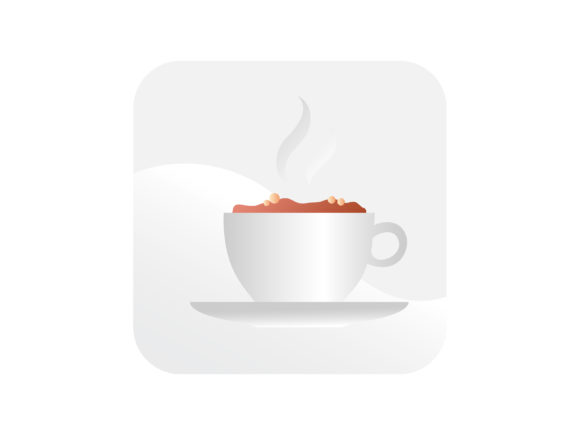 Download Free Hot Coffee Cup Icon Graphic By Samagata Creative Fabrica for Cricut Explore, Silhouette and other cutting machines.