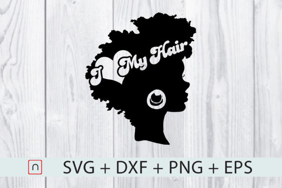 Download Free Black Queen I Love My Hair Graphic By Novalia Creative Fabrica for Cricut Explore, Silhouette and other cutting machines.