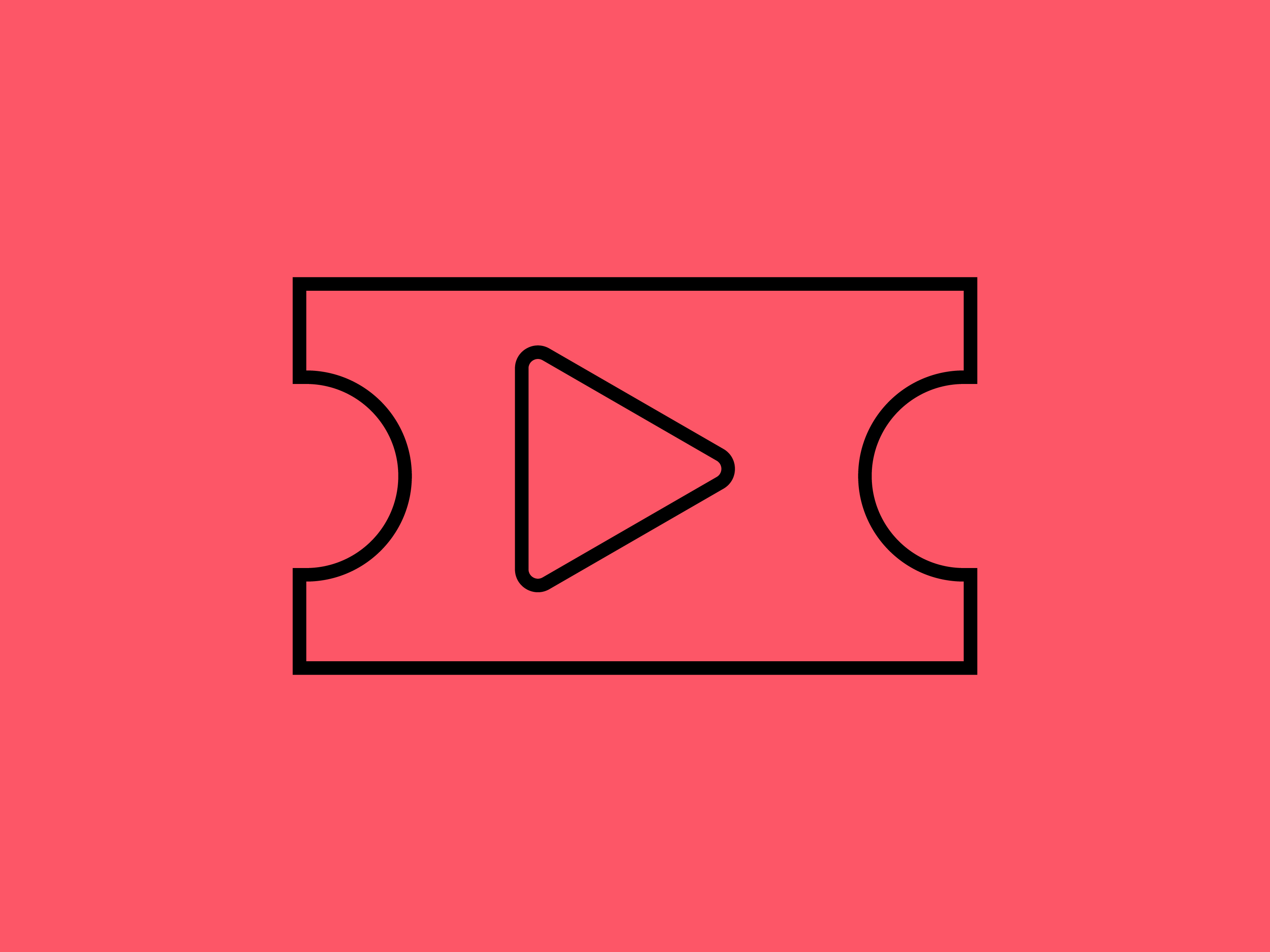 Download Free Icon Ticket Video Black Outline Graphic By Meandmydate for Cricut Explore, Silhouette and other cutting machines.