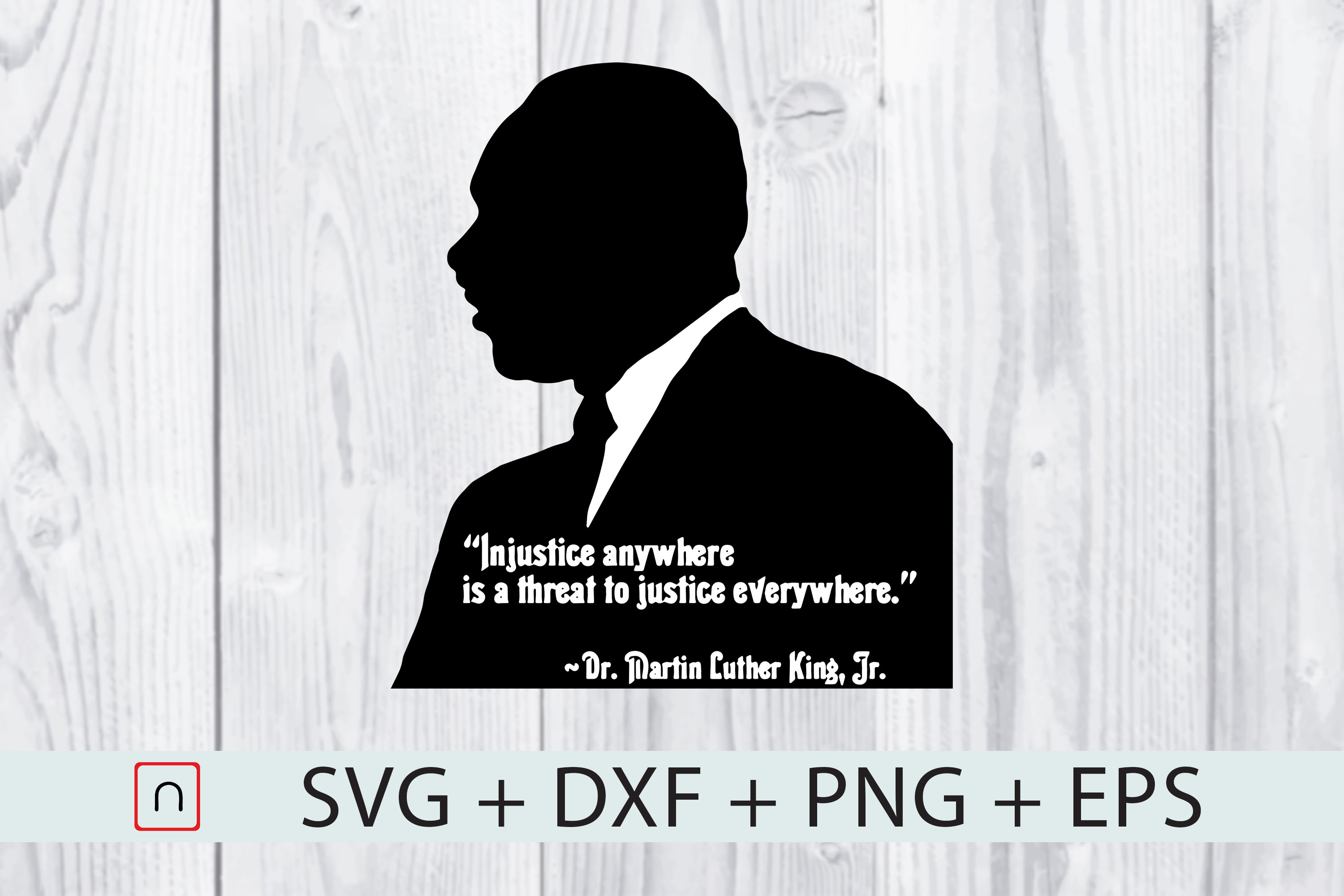 Download Free Injustice Anywhere Martin Luther King Jr Graphic By Novalia for Cricut Explore, Silhouette and other cutting machines.