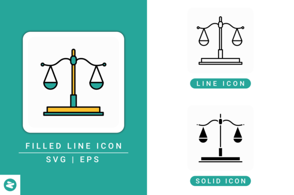 Download Free Justice Scale Icons Set Graphic By Zenorman03 Creative Fabrica for Cricut Explore, Silhouette and other cutting machines.