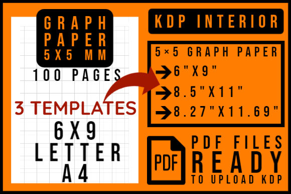 Print on Demand: KDP Interiors | Graph Paper Squared Graphic KDP Interiors By smnlbr34