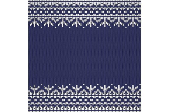 Knitted Seamless Horizontal Pattern Graphic Illustrations By Agor2012