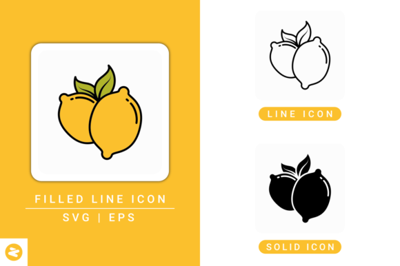 Download Free Lemon Icons Set Graphic By Zenorman03 Creative Fabrica for Cricut Explore, Silhouette and other cutting machines.