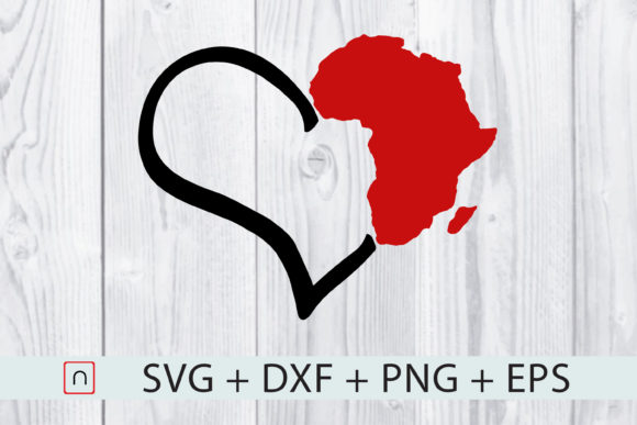 Download Free Love Africa Heart Map Graphic By Novalia Creative Fabrica for Cricut Explore, Silhouette and other cutting machines.