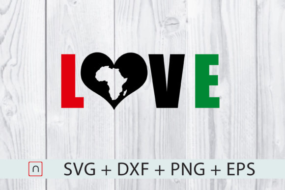 Download Free Love Map Africa Graphic By Novalia Creative Fabrica for Cricut Explore, Silhouette and other cutting machines.
