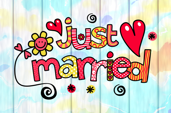 Download Free Love Marriage Wedding Text Titles Graphic By Prawny Creative for Cricut Explore, Silhouette and other cutting machines.
