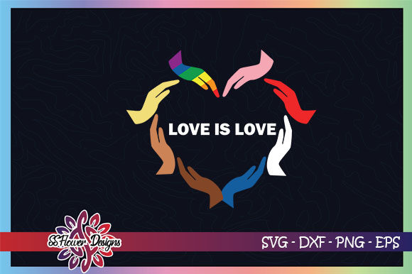 Love Is Love Heart Shape By Hands Graphic By Ssflower Creative