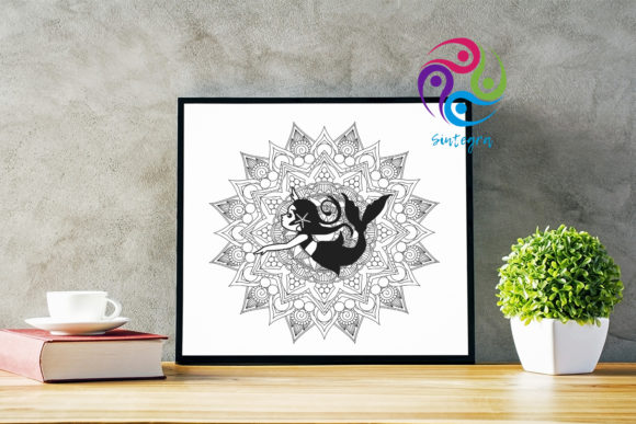 Download Free Mandala Mermaids Cut File Bundle Graphic By Sintegra Creative for Cricut Explore, Silhouette and other cutting machines.
