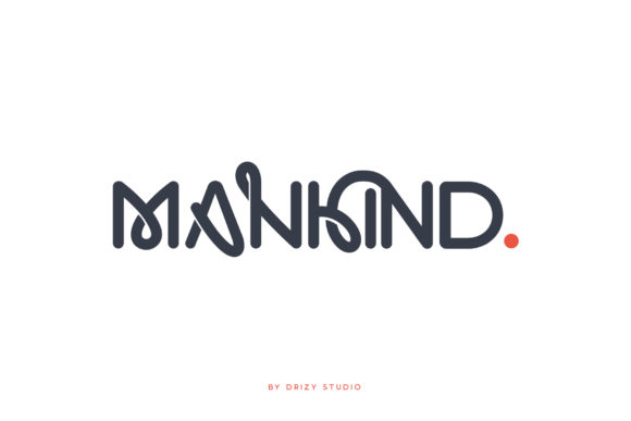 Print on Demand: Mankind Display Font By sandrifaqih