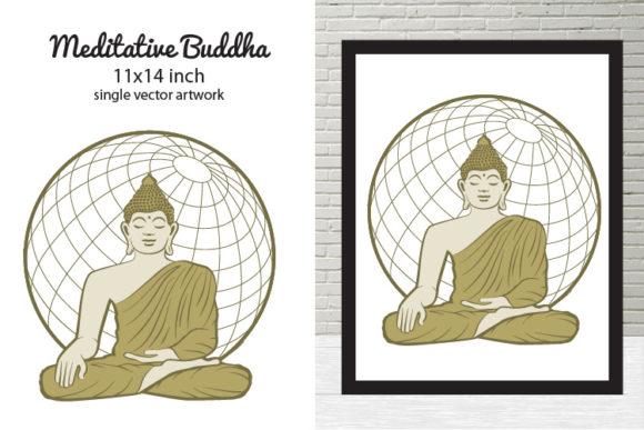 Print on Demand: Meditative Buddha Graphic Illustrations By biljanacvetanovic