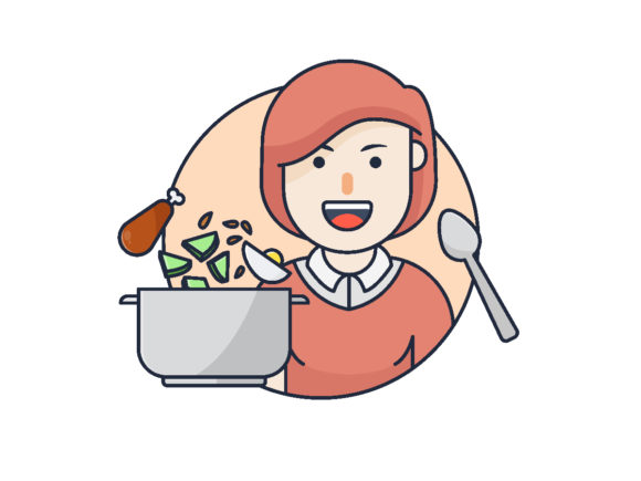 Download Free Cooking Vector Illustration Icon Graphic By Bayu Febrianto for Cricut Explore, Silhouette and other cutting machines.