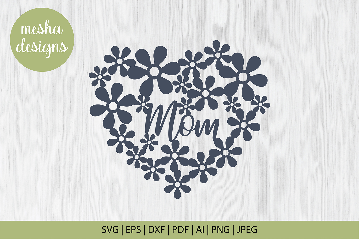 Download Free Mom Heart Frame Cut File Graphic By Diycuttingfiles Creative for Cricut Explore, Silhouette and other cutting machines.