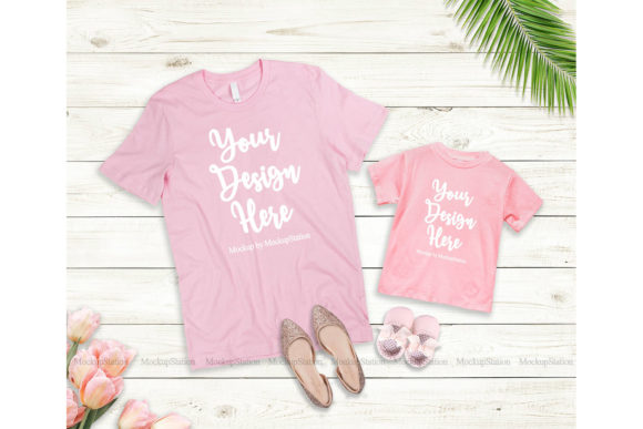 Print on Demand: Mommy and Me Tshirt Mockup Bundle Graphic Product Mockups By Mockup Station - Image 3