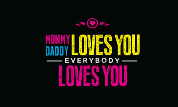 Print on Demand: Mommy Daddy Loves You Graphic Illustrations By baraeiji