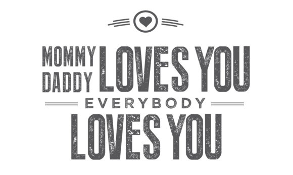 Download Free Mommy Daddy Loves You Graphic By Baraeiji Creative Fabrica for Cricut Explore, Silhouette and other cutting machines.