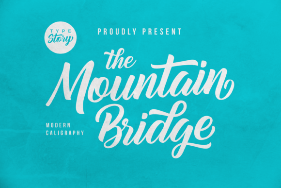 Print on Demand: Mountain Bridge Script & Handwritten Font By Typestory