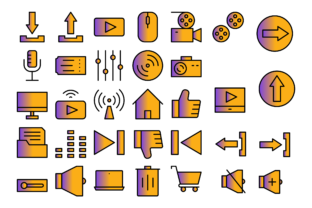 Print on Demand: Multimedia User Interface Graphic Icons By Designvector10