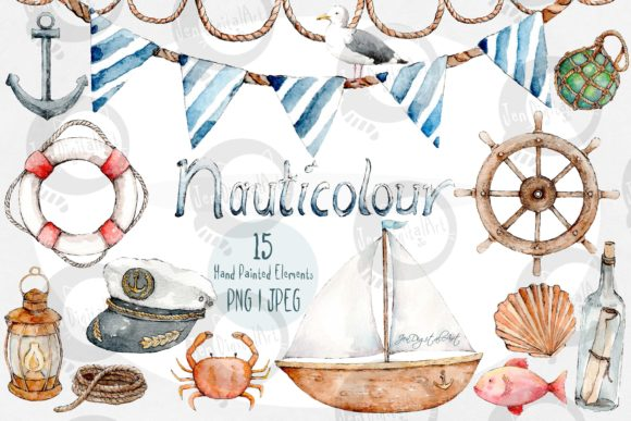 Nauticolour Art Graphic Illustrations By Jen Digital Art