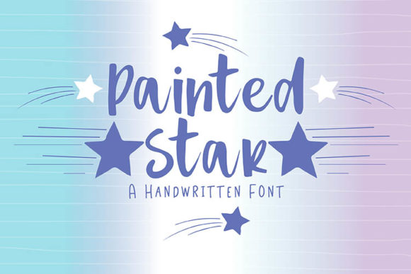 Print on Demand: Painted Star Script & Handwritten Font By carrtoonz